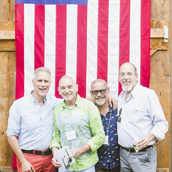 Four Men and Flag