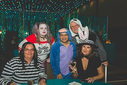 Costumed Guests at Table