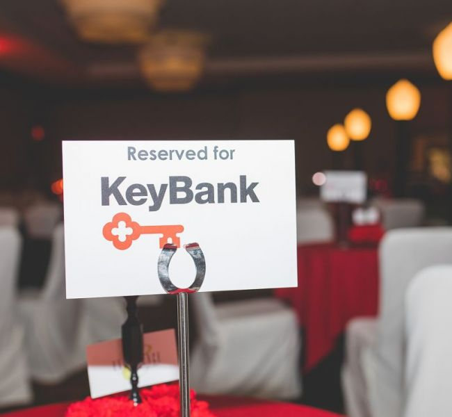 KeyBank Place Card